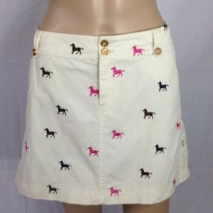 🐴 Giddy Up Horsey Corduroy Skirt Lilly Pulitzer 6